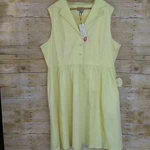 Lindy Bop Yellow Sleeveless Vintage Inspired Dress